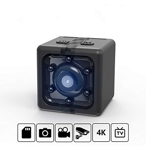 Mini-camera, verborgen, draagbaar, HD, 1080P, voor buiten, klein, draagbaar, bewegingsdetectie, batterijvoeding/nachtzicht (zwart)