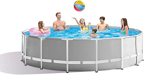 XLBHSH 366 ×76 cm Metal Frame Pool Round Frame Above Ground Pool Pond Family Swimming Pool Metal Frame Structure Pool