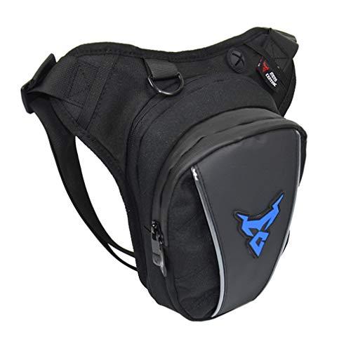 Bolsa de cintura Oxford para motocicleta para hombres y mujeres, muslo, cintura, cadera, riñonera para teléfono celular, bolsa para teléfono móvil, bolsa para viajes al aire libre