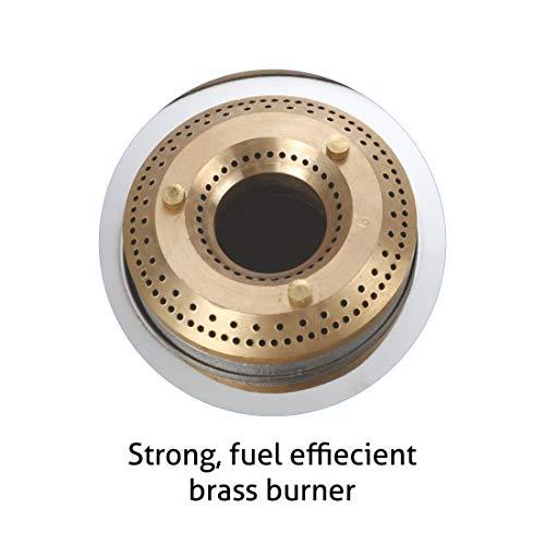 Glen 3 Burner LPG Glass Gas Stove with Brass Burners, Black (1034 GT BB BL), Glass & Mild Steel - Powder Coated, Manual