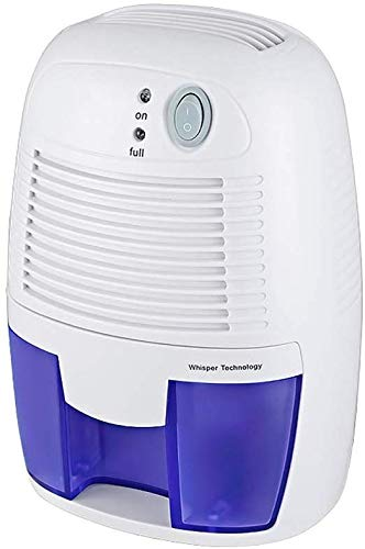 %23 OFF! HUYYA 500ml Compact and Portable Mini Air Dehumidifiers, Electric Dehumidifier for Bathroom, Closet, RV, Basement, Bedroom,White