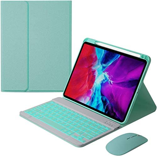 for iPad Air4 10 9 2020 Keyboard Case Mouse with Magnetically Detachable Wireless Keyboard and product image