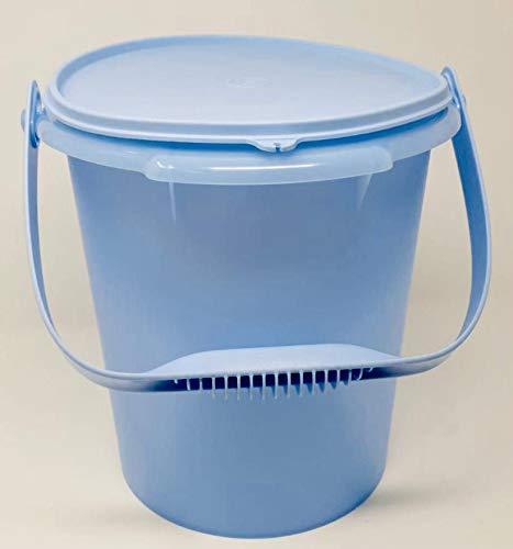 TUPPERWARE Party-Riese Eimer Hummer 8,5 Liter XXL mit Henkel Vorratsbehälter Behälter Wasserkanister Milchkanne blau hellblau