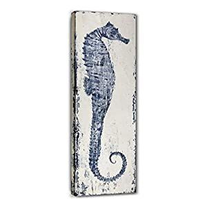 Yihui Arts Seahorse Wall Art Hand Painted Costal P...