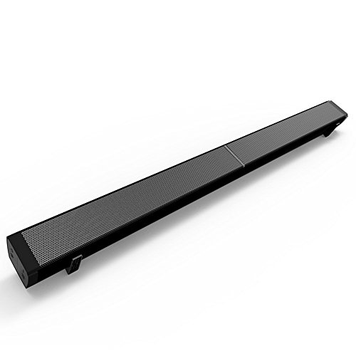 Wireless Audio Soundbar Speaker, BODECIN Bluetooth 4.0 Subwoofer Soundbar, Stereo Audio System, Remote Control Wall Mountable and Firmware Upgraded