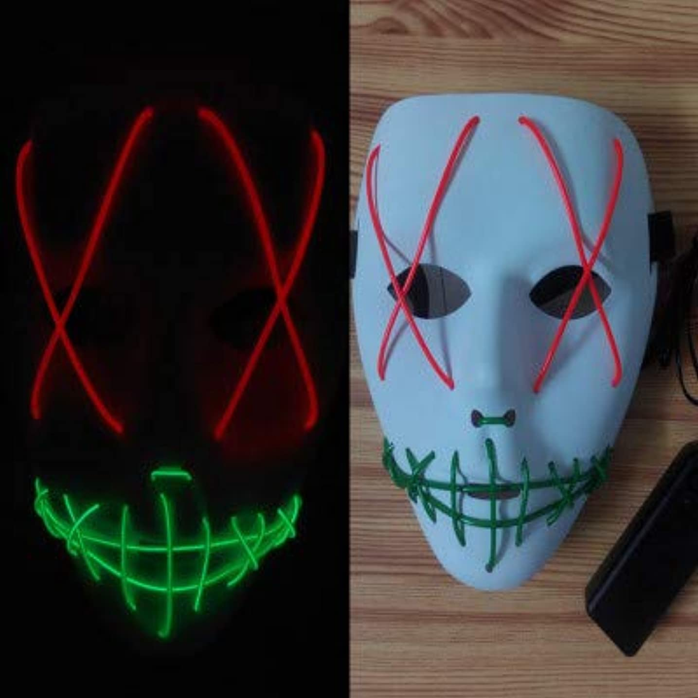 火山学者イースターお金輝く不気味なマスク、祭りのハロウィーンの衣装、コスプレパーティー