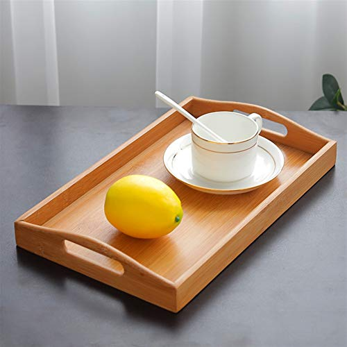 NIANZAI LUHUAPING Bella mensola della Cucina Creative Wooden rettangolo Tavole da Pranzo Stile Giapponese Bistecca di Manzo di bambù Frutta Snack Ristorante Desktop stoviglie stoccaggio (Color : M)