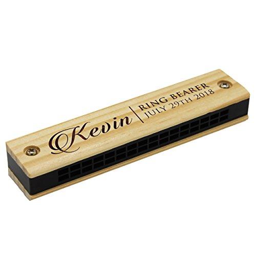 5) Custom Personalized Wood Harmonica