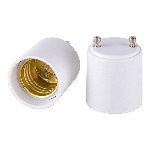 Onite - Adaptador GU24 a E26 E27 para bombilla LED, convierte la fijación de la base de tu pin en un enchufe estándar de lámpara de rosca