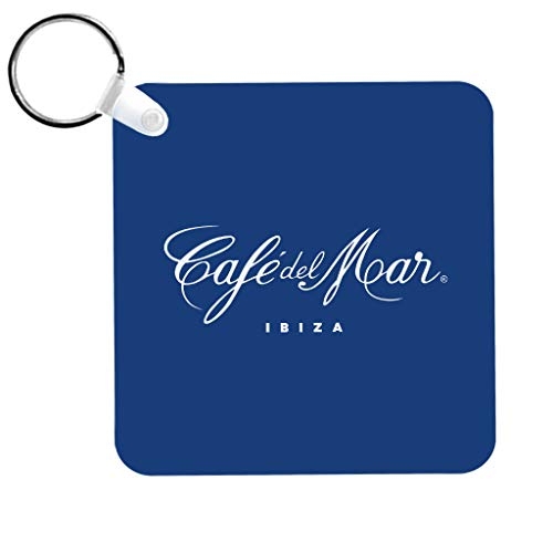 Café del Mar Classic White Logo Keyring