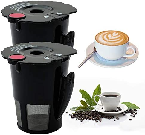 2 Pack Reusable K Cups Coffee Filter Fit for 119367 Keurig K Cup Machine Kcup Refillable Cup product image