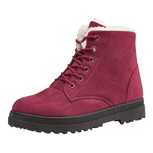 Fenverk Damen Winterschuhe Winterstiefel Mit Warm GefüTtert Winter Outdoor Boots Wanderstiefel Stiefel/Warme Schneestiefel rutschfeste Arbeitsstiefel Trekking Gr.35-44