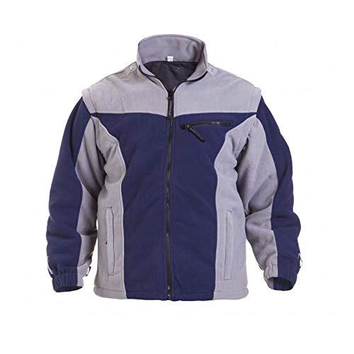 Hydrowear 04026016 F Klagenfurt Polar Polaire pour homme, 100% polyester, taille Medium, Bleu marine/gris