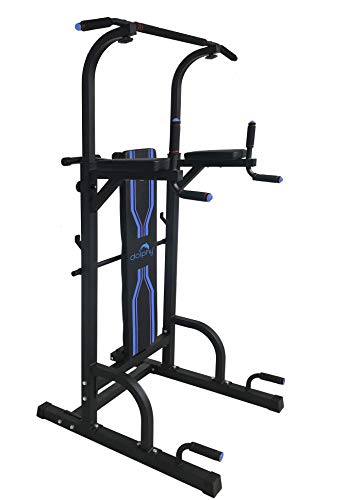 Dolphy Steel Free Standing Pull up Bar, Parallel Bar, Dips Station and Push up Bar- Power Tower