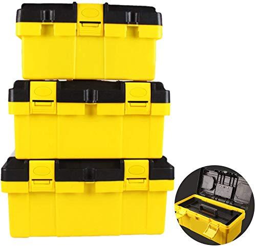 Wxnnx Caja de herramientas de plástico para el hogar Mantenimiento Electricista Caja de herramientas Multifuncional ABS Hardware Reparación de Coches Caja Anti-caída (14