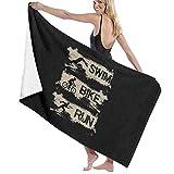 URANDM Triathlon - Swim Bike Run Microfiber Beach Towel (52 X 32) -Highly Absorbent, Quick Dry Lightweight Towels Blanket for Sports Travel Pool Swimming Beach Gym Bath