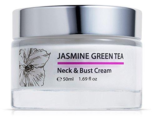 Crema reafirmante de queratina con jazmin y te verde, para cuello y pecho, 50 ml