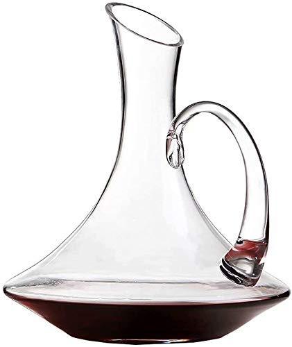 Decantador de vino, Decantador de whisky Decantador de vinos de cristal - 100% Mano Blown-Free Crystal Glass, CARAFE DE VINO ROJO, Regalos de vino, Accesorios de vino 1.1L Whisky Decanter Set Crystal