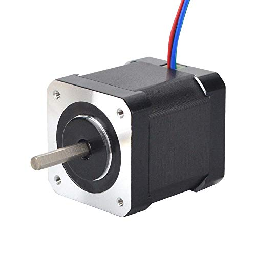 STEPPERONLINE Nema 17 Schrittmotor Volle D-Cut-Welle Bipolar 0,9 Grad 46Ncm 2A 42x48mm 4 Drähte für 3D DRUCKER/Hobby CNC-Fräse