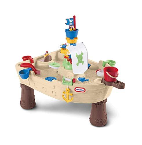 little tikes 628566E3 Anchors Away Robuster Wasserspieltisch im Piratenschiff Design mit Wasserpumpe