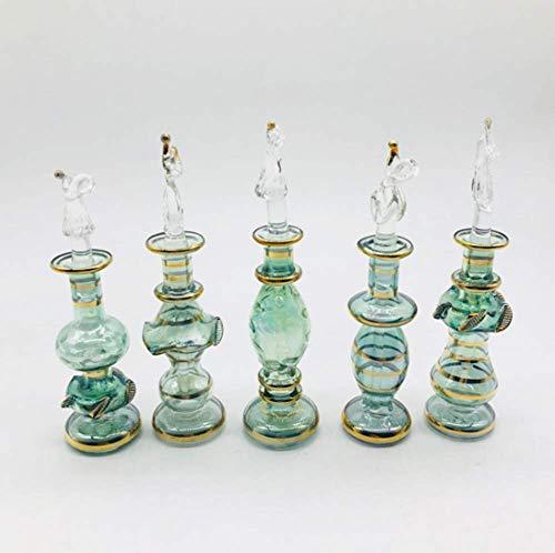 Gogh Delicative ägyptischen Parfüm-Flaschen Handgemachte 5PCS / Set, 7cm Länge, Mini-Kristallglas-Duftstoff-Flasche für Hauptdekor oder Parfum & Ätherische Öle