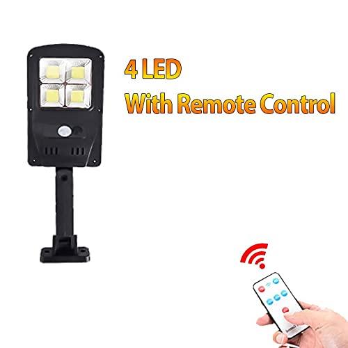 XHBH Luces solares Reutilizables LED LED Sensor DE Momento PIR Smart PIR con Control Remoto, lámpara Impermeable en la decoración de la Pared Herramientas de iluminación Exterior 4.24