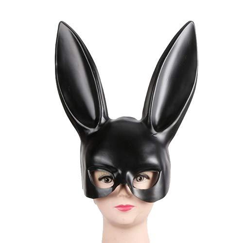 Máscara de conejo, disfraz de Halloween, bola de conejo, máscara de conejo, sexy, orejas largas