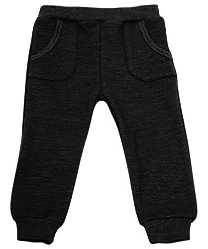 JAN & JUL Warm Baby Girl Boy Winter Jogger Pants (6m, Heather Black)