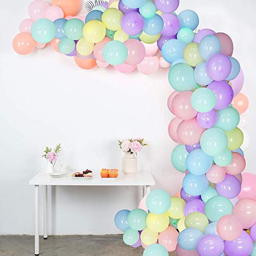 Globos de Cumpleaños de Colores, 100 piezas Globos Pastel de Látex para Fiestas Bodas Reuniones y Otras Celebraciones