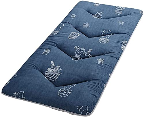 LIMIAO Impresión de Dibujos Animados japonés Piso Futón colchón, Dormitorio de Estudiantes Plegable Piso Cama Tatami Almohadilla para Dormir (71X79 Pulgadas),E,120x200cm (47 * 79 Inches)