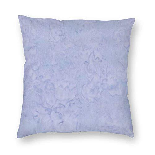 SUN DANCE Funda de almohada decorativa ligera de periwinkle para decoración del hogar, funda de cojín cuadrada de felpa suave y ligera de 45,7 x 45,7 cm