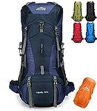 Doshwin 70L Mochila Camping Trekking Senderismo Viaje (con Funda Impermeable) (Azul Oscuro)