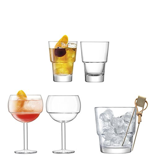 LSA International Mixologist Cocktail Ensemble de Glace, 26.6 x 20.6 x 36.4 cm