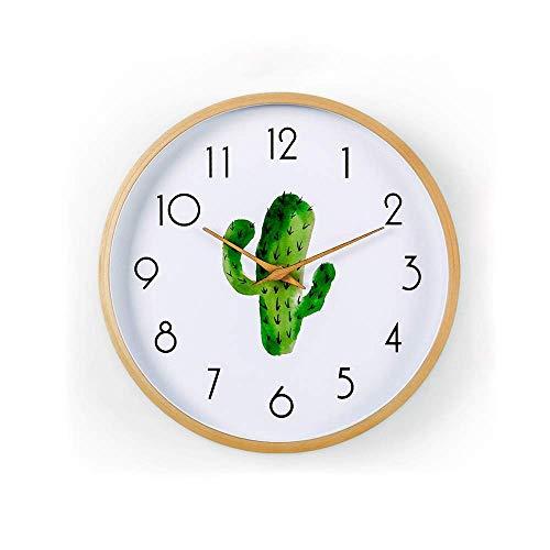 Reloj, Reloj De Pared Simple Creativo De Madera De 12 Pulgadas Silencioso, Sin Tictac Reloj Redondo De Cuarzo Pilas, Fácil De Leer (tamaño: M), Multiusos