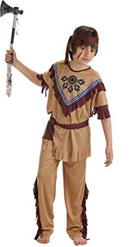 Creaciones Llopis Disfraz Infantil Indio T-L (10 A 12 AÑOS), Multicolor (83255