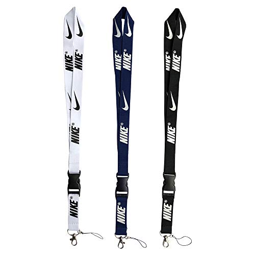 Lanyard 3 Pack Neck Lanyard Strap for Keychains Keys ID Holder Cell Phones Bags Accessories-Detachable Lanyard with Quick Release Buckle