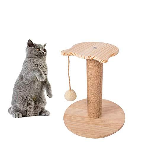 HIZQ Poste Rascador para Gatos, Juguete Interactivo Fluffy Ball para Juegos Creativos para Mascotas, Adecuado para Entretenimiento Diario Y Molienda De Gatitos