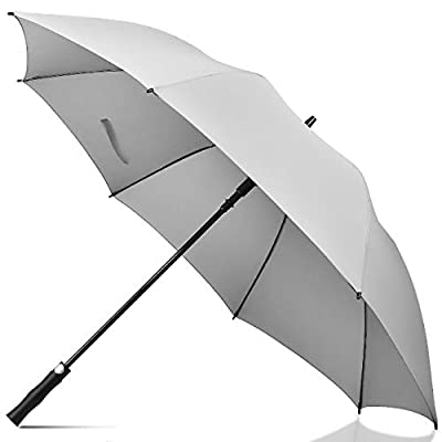 UROPHYLLA Golf Umbrella Windproof Large Rain Umbrella, Auto Open Oversize 62 Inch Stick Umbrella 8 Ribs Umbrella for Men and Women