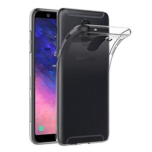 REY - Funda Carcasa Gel Transparente para Samsung Galaxy A6 Plus 2018 - Galaxy A9 Star Lite - J8 2018, Ultra Fina 0,33mm, Silicona TPU de Alta Resistencia y Flexibilidad