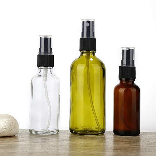 Love lamp Aihogard 100/50 / 30ML Portable Rechargeables Huile Essentielle Liquide Pulvérisateur Bouteille Vide Pulvérisateur Maquillage Parfum en Verre Atomiseur (Color : 100ML Brown)