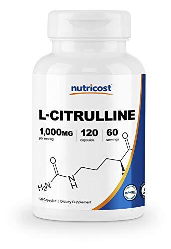 Nutricost L-Citrulline 500mg, 120 Capsules - Gluten Free, Non-GMO, 1000mg Per Serving (60 Serv)