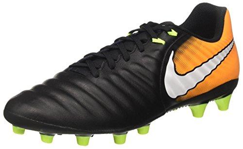 Nike Tiempo Ligera IV AG-Pro, Botas de fútbol para Hombre, Negro (Black/White/Laser Orange/Volt), 40 EU