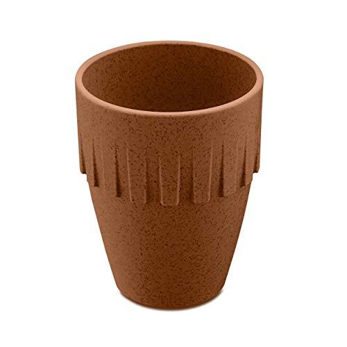 Koziol Becher Cappuccino Connect, Kaffeebecher, Tasse, Kaffeetasse, Thermoplastischer Kunststoff, Organic Rusty Steel, 300 ml, 4080674