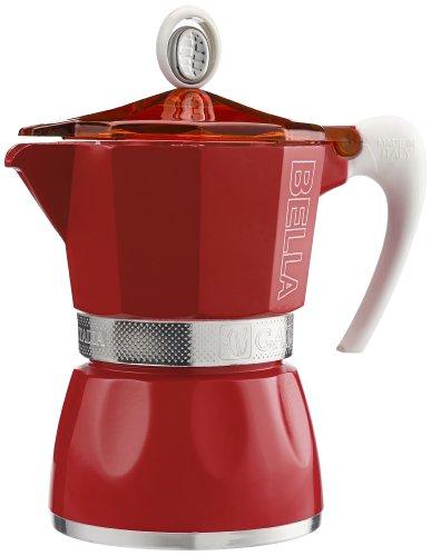 G.A.T. 2790000083 Espressokocher bereitet bis zu 3 Tassen, rot