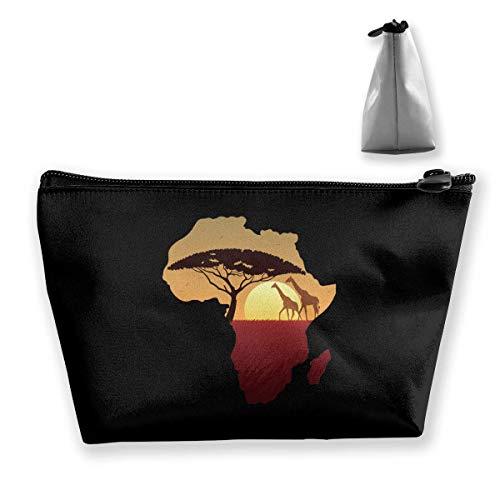 SAFARI AFRICAIN GIRAFE Portable Maquillage Sac de Rangement Grande Capacité Poches Main Travel Wash Bag
