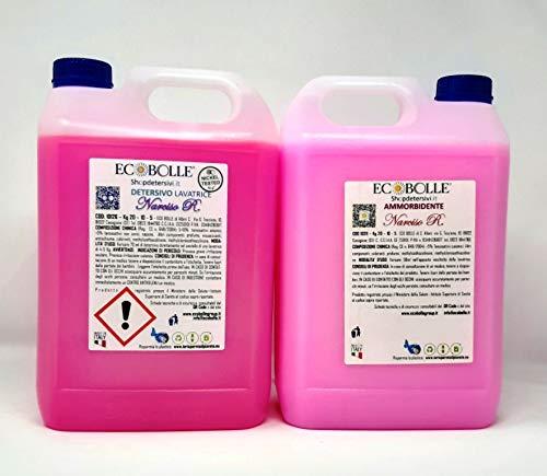 NOVITÀ!! ECOBOLLE OFFERTA -30%: Detersivo per Lavatrice e Ammorbidenti Narciso R, Super Profumati e Concentrati 10KG