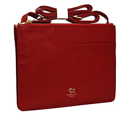 Radley - Borsa a tracolla compatta in pelle, misura media, colore: Rosso