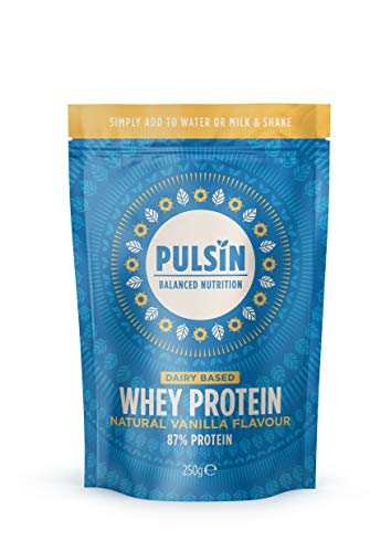 Pulsin Natural Vanilla Flavoured Protein Powder, 250 g