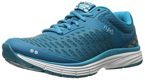 Ryka Women's Indigo Running Shoe, Blue/Silver, 7.5 M US