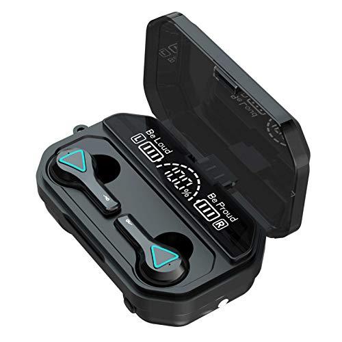 Tidyard A15 BT5.1 Auriculares inalámbricos Emparejamiento automático HiFi Sonido de Alta fidelidad IPX7 Pantalla Digital de Tres Pantallas a Prueba de Agua